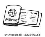 passport and ticket   cartoon... | Shutterstock .eps vector #333890165