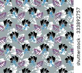 flower seamless pattern with... | Shutterstock .eps vector #333892757