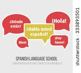 language poster  banner with... | Shutterstock .eps vector #333893501