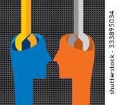 creative spanner inside of... | Shutterstock .eps vector #333895034