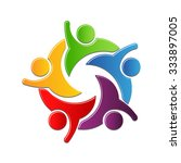 teamwork culture of work in... | Shutterstock .eps vector #333897005