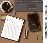 illustration desktop playback... | Shutterstock .eps vector #333902831
