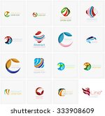 set of abstract wavy elements....   Shutterstock .eps vector #333908609