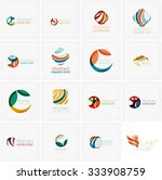 set of abstract wavy elements....   Shutterstock .eps vector #333908759