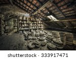 Clay Molds In Attic Of An...