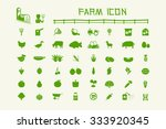50 common icon farm and organic.... | Shutterstock .eps vector #333920345