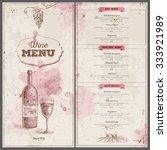 vintage wine menu design.... | Shutterstock .eps vector #333921989