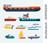 boats and ships | Shutterstock .eps vector #333930245