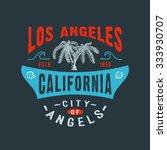 71 city of angels los angeles... | Shutterstock . vector #333930707