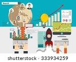 global social network abstract... | Shutterstock .eps vector #333934259