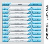 music play list ranking... | Shutterstock .eps vector #333935831