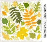set of vector leaves. | Shutterstock .eps vector #333940595