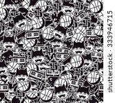 seamless pattern. doodle... | Shutterstock .eps vector #333946715