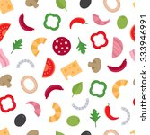 seamless pattern with the... | Shutterstock .eps vector #333946991