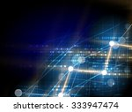 abstract tech background.... | Shutterstock .eps vector #333947474