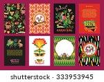 big set of brazil  carnival... | Shutterstock .eps vector #333953945
