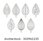 isolated set of leaves ornament ...