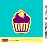 birthday cake icon. symbol of... | Shutterstock .eps vector #333962201