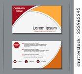 modern business visiting card ... | Shutterstock .eps vector #333962345