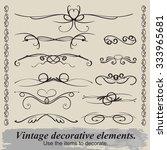 vintage vignettes for... | Shutterstock .eps vector #333965681