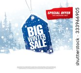 big winter sale poster | Shutterstock .eps vector #333966905