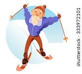 vector image of an old senior...   Shutterstock .eps vector #333972101