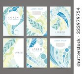 set of vector design templates. ... | Shutterstock .eps vector #333979754
