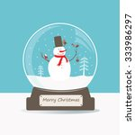 merry christmas glass ball with ...   Shutterstock .eps vector #333986297