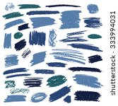 set of brush strokes of pencil... | Shutterstock .eps vector #333994031