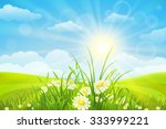 nature meadow background  with...