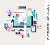 web design creating website....