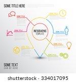 vector infographic report... | Shutterstock .eps vector #334017095