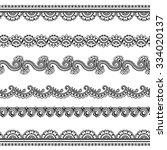 set of seamless borders for... | Shutterstock .eps vector #334020137