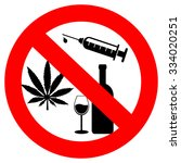 no drugs and alcohol sign