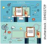 e learning  online education... | Shutterstock .eps vector #334022729