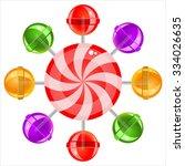 sweet candy lollipops on white...   Shutterstock .eps vector #334026635