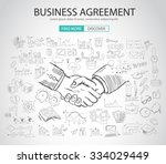 business agreement concept wih... | Shutterstock .eps vector #334029449