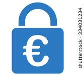 euro lock glyph icon. style is... | Shutterstock . vector #334031234