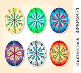 painted easter eggs. design... | Shutterstock .eps vector #334043471