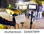 Operator Holding Clapperboard...
