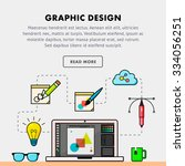 concept of graphic design... | Shutterstock .eps vector #334056251