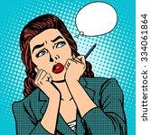 Woman Thinks Work Businesswoma...