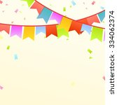 colorful buntings  party... | Shutterstock .eps vector #334062374