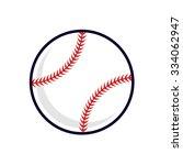 baseball vector illustration | Shutterstock .eps vector #334062947