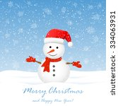 christmas background with cute... | Shutterstock .eps vector #334063931