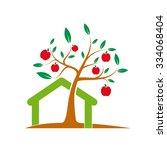 vector sign greengrocer. slow... | Shutterstock .eps vector #334068404