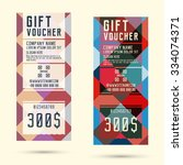 gift voucher template. flyer... | Shutterstock .eps vector #334074371