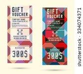 gift voucher template. flyer... | Shutterstock .eps vector #334074371