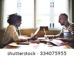 team partner communication... | Shutterstock . vector #334075955