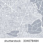 abstract city plan.  editable... | Shutterstock .eps vector #334078484